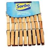 Sorbo Wasknijpers - Hout - 36 stuks