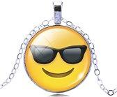 Emoji ketting zonnebril