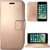 Apple iPhone 7/8 Hoesje Lederen Bookcase met Siliconen TPU Telefoonhouder - Rose Goud - van iCall