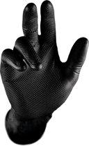 Gripster maat XL - Werkhandschoen extra grip | Extra sterk Nitril handschoen | 50 Stuks | Zwart | Hygiene