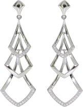 Zilveren oorhangers Elegance