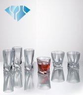 Kristal shotglas Quadro 55 ml