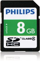 Philips SD-kaart - 8GB - SD Card - Class 4