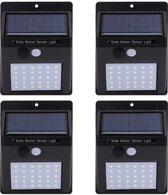 4 x 20 LED Buitenlamp en tuinverlichting met bewegingssensor en solar zonne-energie panelen