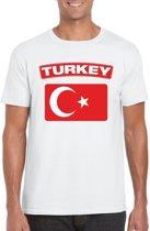 Turkije t-shirt met Turkse vlag wit heren L