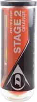 Dunlop Stage 2 - Tennisballen - 3 stuks - Stage 2 - Geel/ Oranje