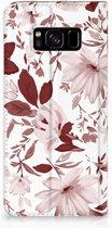 Boekhoesje Samsung S8 Watercolor Flowers