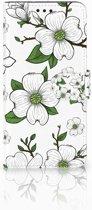 Motorola Moto G6 Plus Boekhoesje Design Dogwood Flowers