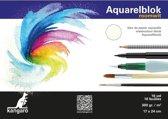 2x Aquarelblokken 300 gram 24 x 17 cm - Aquarel papier - Aquarelblokken/tekenblokken - Hobby/schildermateriaal