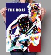 Poster WPAP Pop Art Bruce Springsteen