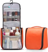 Reis Toilettas Hanging met Haak – Travel Etui Organizer voor Toiletartikelen Kamperen & Reizen Accessoires – Toiletry Bag voor Dames en Heren – Orange