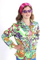 Flower Power Hippie blouse voor kinderen maat 140