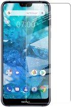 Shop4 - Nokia 7.1 Glazen Screenprotector - Gehard Glas Transparant