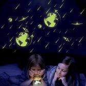 Glow in The Dark Maan Sticker (21 * 24.5 CM ) - Zelfklevende Kinderkamer Sterrenhemel Muursticker
