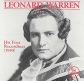 Leonard Warren: His First Recordings