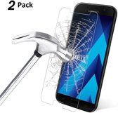 2 pack - Galaxy A5 2017 Premium Glazen tempered glass / screen protector  2.5D 9H (0.3mm) - Ntech