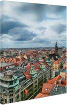 FotoCadeau.nl - Stadsgezicht van Wroclaw Polen Canvas 80x120 cm - Foto print op Canvas schilderij (Wanddecoratie)