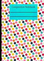 Polka Dot Composition Notebook - 4x4 Graph Paper