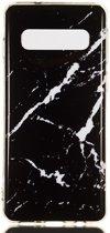 Samsung Galaxy S10 TPU Back Cover met Marmer Print Zwart