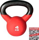 Gymstick Pro Kettlebell Neopreen - 4 kg - Met trainingsvideo's