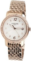 VENDOUX The Elizabeth Rose Gold/White MR41282-02 - Horloge - Dames - Rosékleurig - Ø 38mm