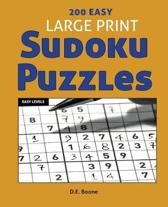 200 Easy Large Print Sudoku Puzzles