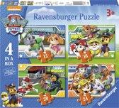 Ravensburger Paw Patrol 4in1box puzzel - 12+16+20+24 stukjes - kinderpuzzel