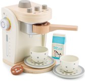 New Classic Toys - Speelgoed Koffiezetapparaat - Inclusief Accessoires - Wit