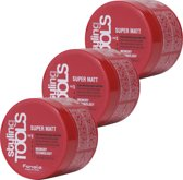 Fanola Styling Tools Super Matt Haar Paste - 3 x 100ml