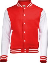 AWDis Varsity jacket, Fire Red/White, Maat XL