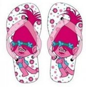 Trolls teen slippers maat 33/34 Poppy wit/roze
