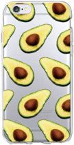 iPhone 8 Plus / 7 Plus (5.5 Inch) - hoes, cover, case - TPU - Transparant - Avocado