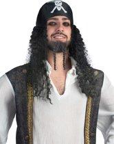 Piratenpruik voor mannen - Verkleedpruik - One size