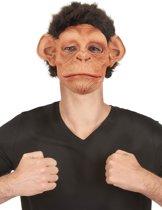 """""""Luxe gedetailleerd latex chimpansee masker voor volwassenen - Verkleedmasker - One size"""""""