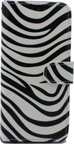 Samsung Galaxy A50 Hoesje - Portemonnee Hoesje met Kaarthouder & Magneetsluiting - Wallet Case - Zebra Print