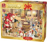 King Puzzel 1000 Stukjes (68 x 49 cm) - Santa's Toys - Legpuzzel Kerst / Winter