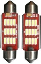 12 LED Canbus binnenverlichting - C10W 42mm - wit
