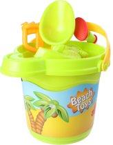 Free And Easy Strandemmerset Beach Toys 22 Cm Groen 7-delig