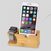Dock Charger Station Voor Apple Watch Series 1/2/3/4/5 40mm & 44MM & iPhone - Docking Lader Voor iWatch - Laadstation Hout