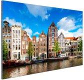 Herengracht in Amsterdam Aluminium 90x60 cm - Foto print op Aluminium (metaal wanddecoratie)