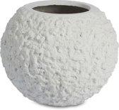 Plantinum Lava Round Bowl White