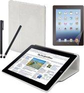Muvit New iPad (iPad 4) Bundle starterpack (with Fold Case White/stylus set/screenprptector) (MUPAK0137)