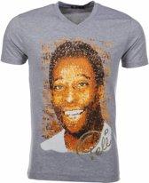 Mascherano T-shirt Pele - Grijs - Maat M