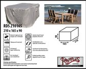 Raffles Covers Tuinsethoes rechthoekig, tuinset hoes 210 x 165 H: 90 cm taupe