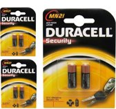 6 Stuks (3 Blisters a 2st) - Duracell A23 23A MN21 K23A Security 12V alkaline batterij