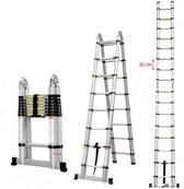 Telescopische Ladder 5x10 sporten -  Inklapbaar - Werkhoogte 3.20m