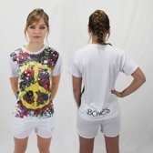 Bones Sportswear Dames T-shirt Peace maat XL