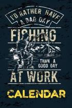 Fishing Calendar: A Fishing Calendar to Keep Track of the Days
