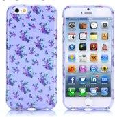 Gel print hoesje iPhone 6 Plus purple flowers