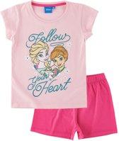 Disney-Frozen-Pyjama-met-korte-mouw-roze-maat-128